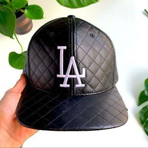 LA Leather Hat Men's